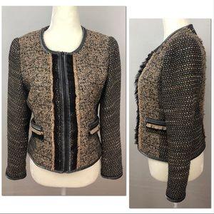 Yoana Baraschi Tailored Zipper Trim Tweed Jacket 6